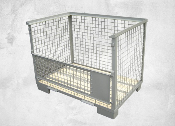 Gitterbox (ohne Abnahme, mit halber Klappe)